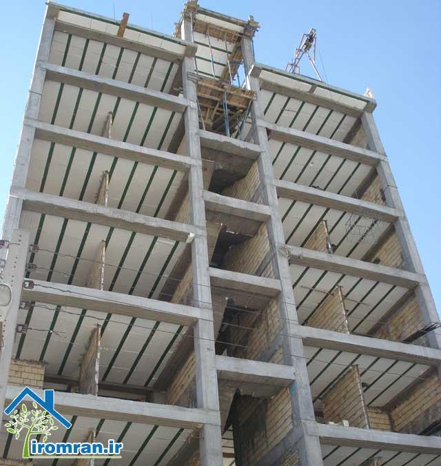 مراحل اجرای ساختمان با اسکلت بتنی